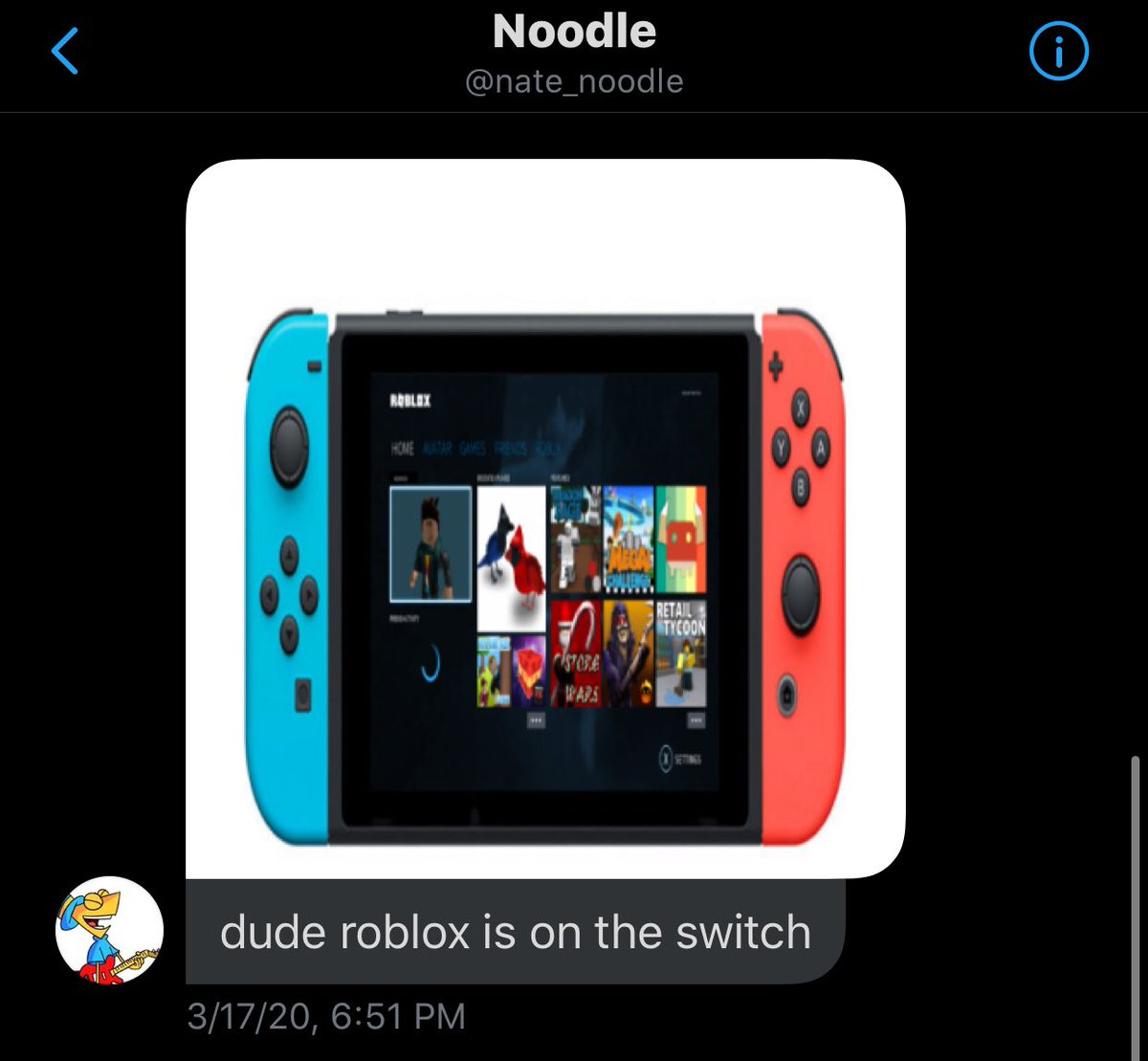 News Roblox On Twitter They Put Roblox On The Switch Nintendo