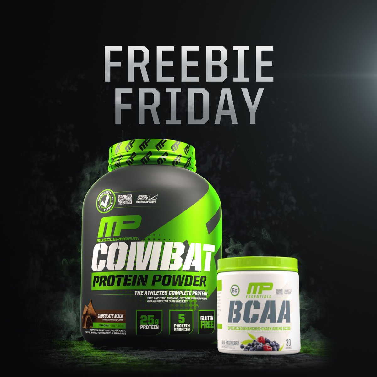 Giveaway on FB and IG + a SALE for everyone.  Buy one four-pound tub of chocolate Combat Protein Powder and get a tub of blue raspberry BCAAs for free, ends Tuesday!  >>> https://t.co/4GuTEciNzj https://t.co/3mktdjj0Hq