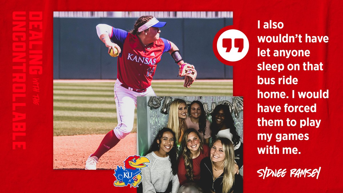 .@sydramsey_ talks about how she would've handled the Jayhawks final series against Arkansas differently had she known that it would be their final games for 2019-20❕  𝕯𝖊𝖆𝖑𝖎𝖓𝖌 𝖜𝖎𝖙𝖍 𝖙𝖍𝖊 𝖀𝖓𝖈𝖔𝖓𝖙𝖗𝖔𝖑𝖑𝖆𝖇𝖑𝖊→https://t.co/bt19mMN3P2  #RockChalk | #KUsoftball https://t.co/6DZKGn1qXq