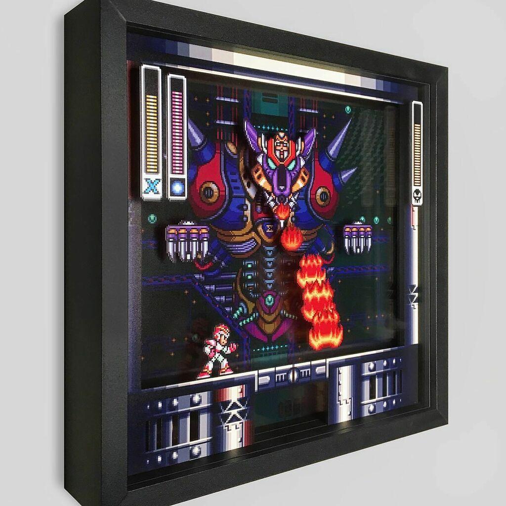 Defeat Sigma! https://t.co/5xSLYF3Ihj @capcomusa #art #artwork #shadowbox #megaman #megamanx #snes #nintendo #sigma #boss #videogame #gamer #gamergirls #gamerguy #gamerlife #ps1 #nintendoswitch #xbox https://t.co/5HRWxL4Hm5
