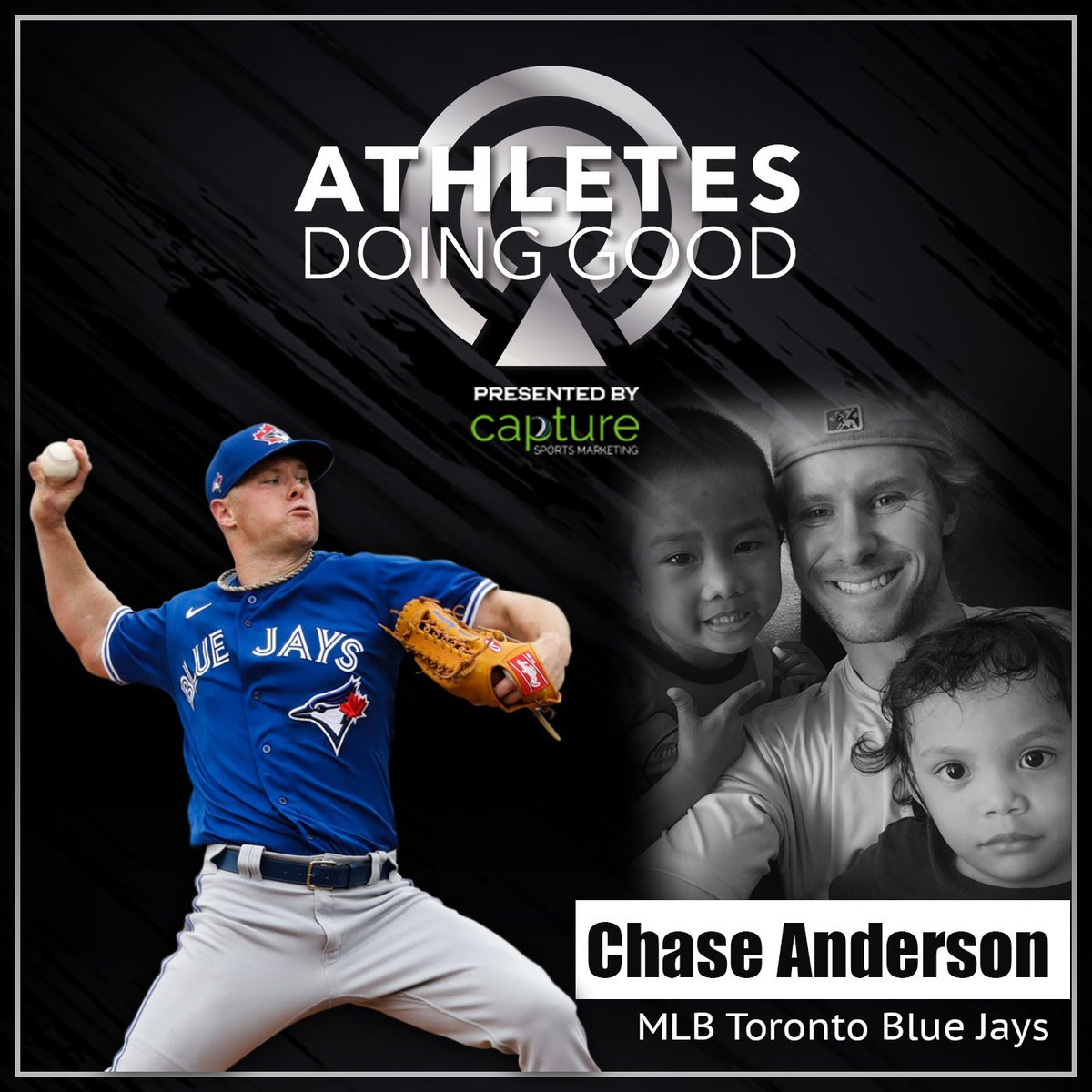 .@BlueJays @ChaseAnderson87 and his wife @AnnaAnderson86 join us on the Athletes Doing Good Podcast with @ChelleeSiewert & @JenLada! Chase shares his life motto & Anna shares why she is proud of Chase. Click the link below to listen! #AthletesDoingGood  https://t.co/LW7WTRYP2i https://t.co/Xe1K3uMya3