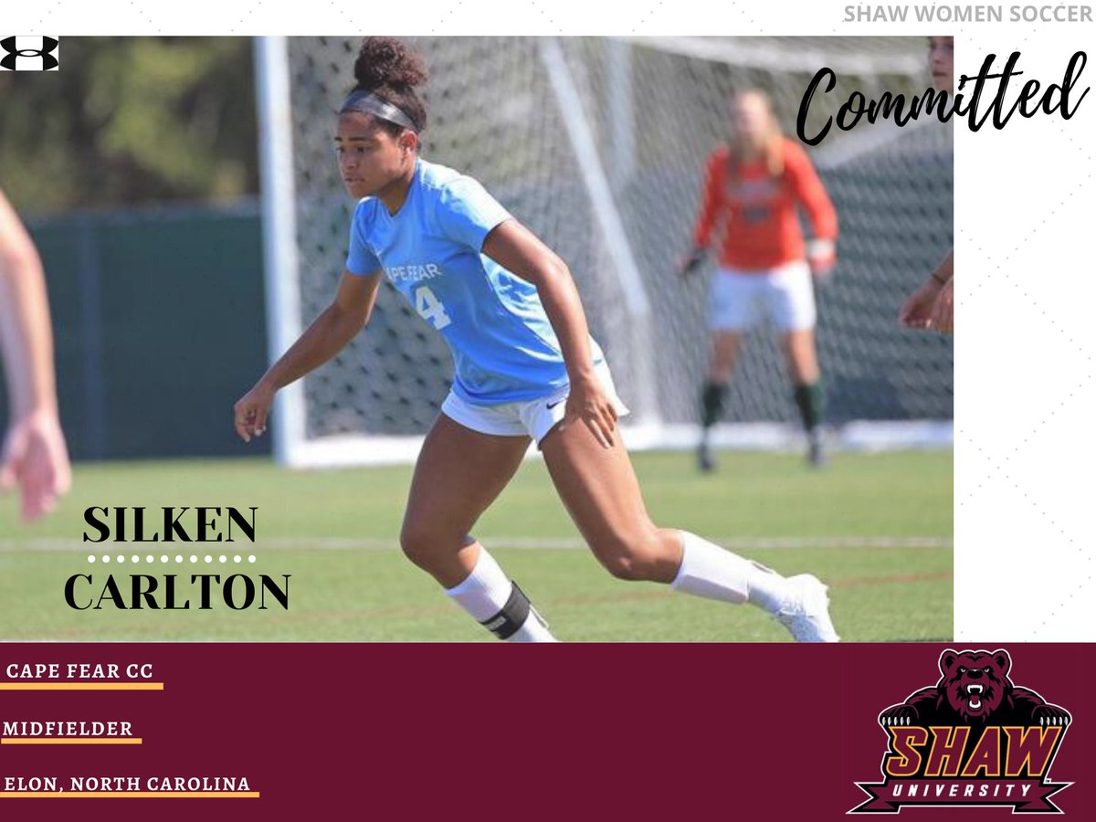 2020 COMMITMENT  - We are very excited to announce @silklaynec has committed her future to #ShawU!  • Silken transfers from @seadevilwsoccer where she helped lead the sea devils to a 13-2-2 Overall.  • Welcome to pic.twitter.com/iSKsifctC7