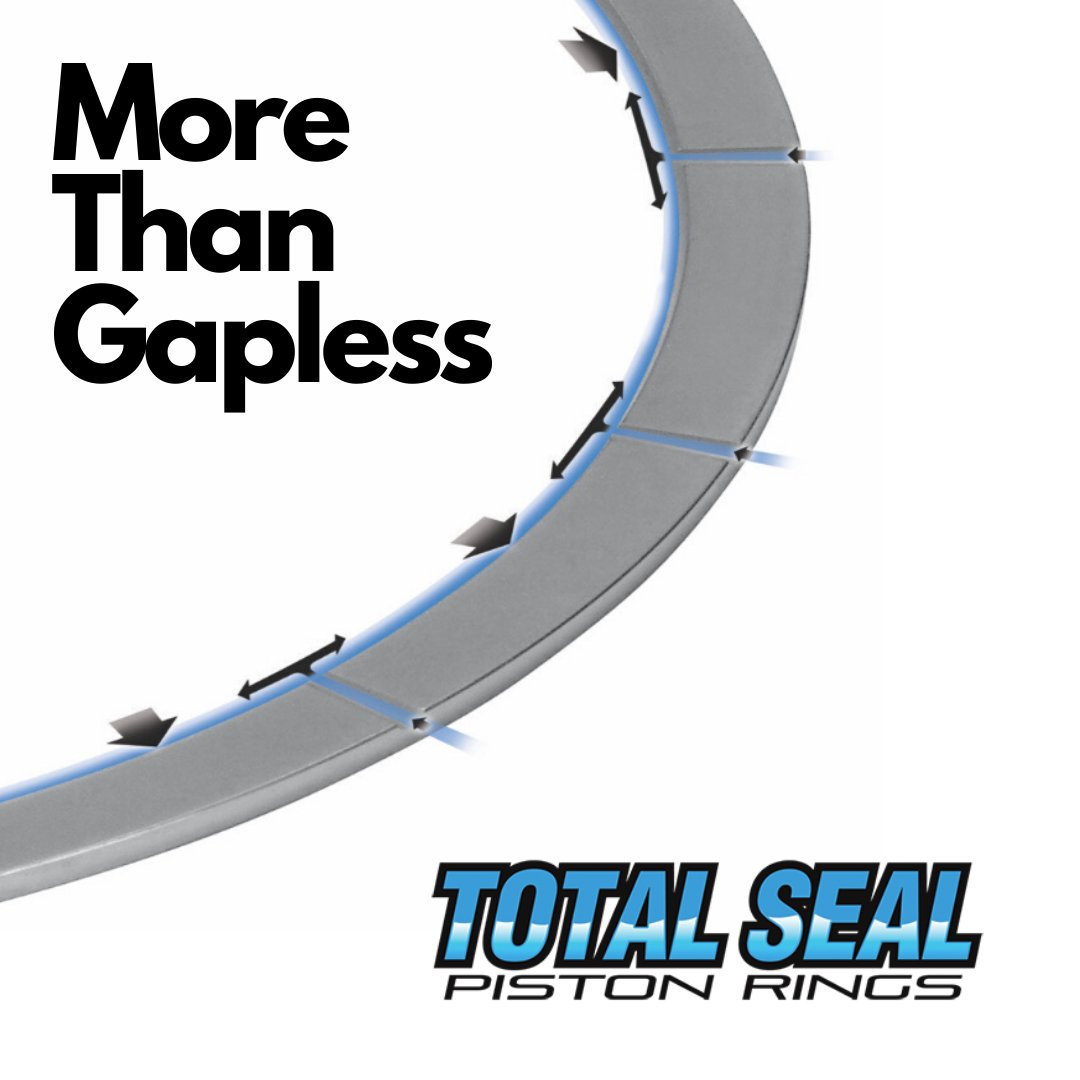 Over 50 years ago we invited the gapless piston ring. Today, Total Seal manufactures conventional gap, Gas Ported, Total Conform and Gapless piston rings. In fact, our new Gas Ported piston rings are proven to reduce blow-by and increase horsepower. #Pistonrings  #Enginebuilding pic.twitter.com/sWHWbjePot