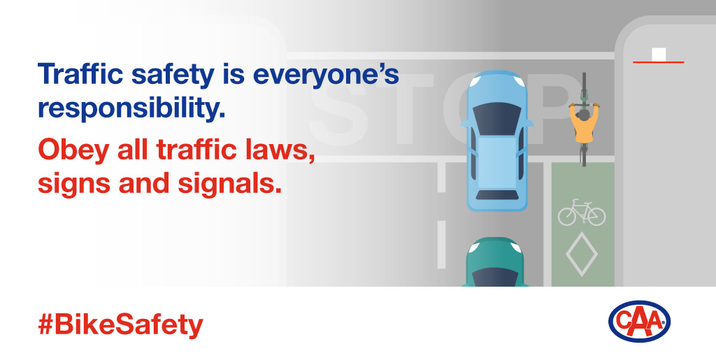 In Ontario, a bicycle is considered a vehicle, just like a car, and must obey all traffic laws. If you need to travel, share the road responsibly. Two wheels or four, we can all travel safely together. #BikeSafety https://t.co/lbsKp1Ukgn