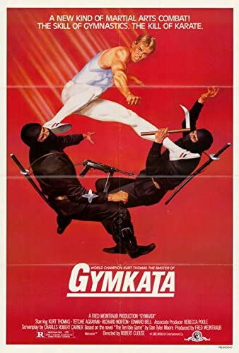 Our #SportsFlixFriday #POTD honors a great #AmericanGymnast in the late #KurtThomas who passed away at 64. #Thomas' athletic prowess really shows in 1985's #Gymkata! What's not to like in this flick, he's a guy trying to win an ancient tournament using gymnastics! #Parmistanpic.twitter.com/aJUSMnHi5D