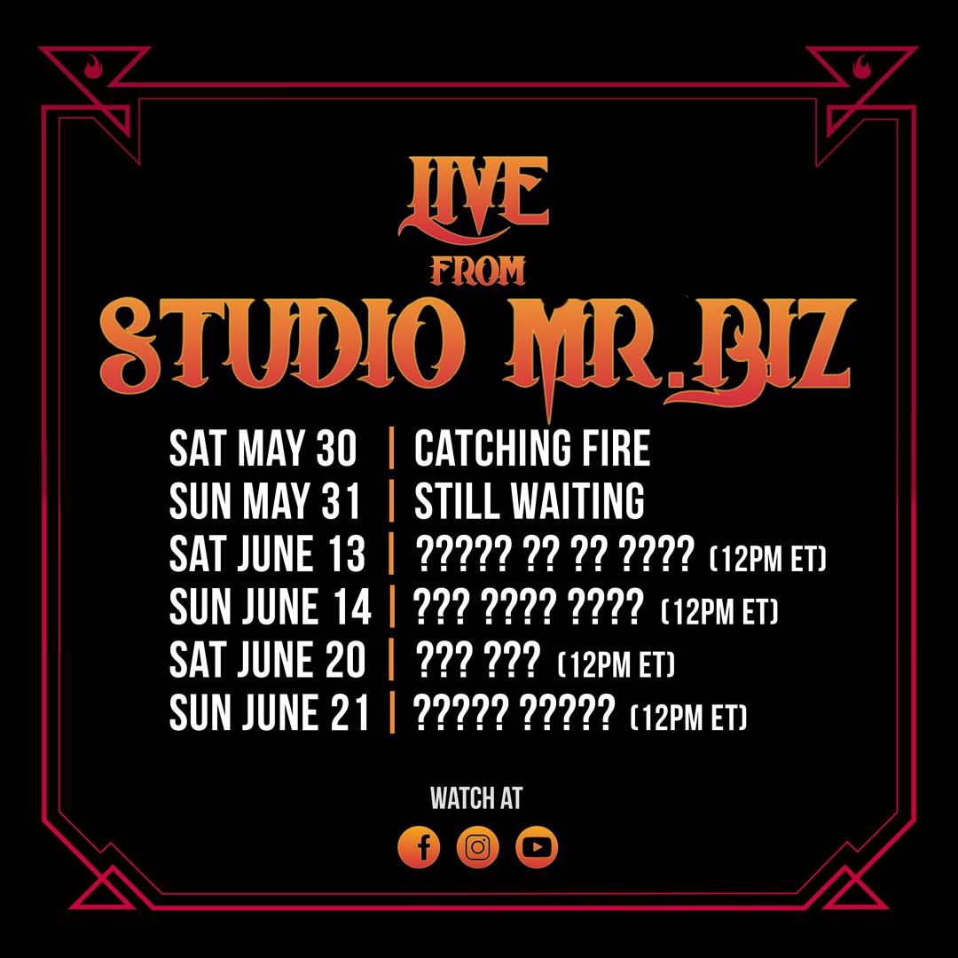 'Live from Studio Mr. Biz' picks back up tomorrow! https://t.co/7cI0hwFhLT