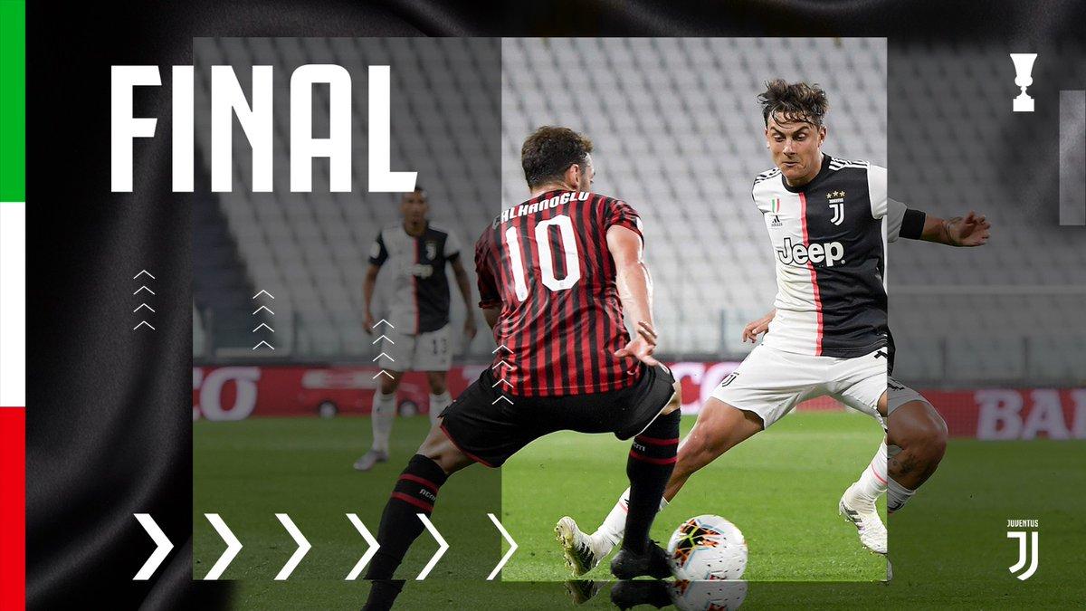 BIANCONERI, SIAMO IN FINALE DI #COPPAITALIA!! ⚪⚫ 👍😘😘😘😘👍👍👍👍🌋🌋🌋  Lo 0-0 qualifica la Juve: ci vediamo a Roma!! ❤️  #JuveMilan [0-0] #ForzaJuve https://t.co/FqTE1ZTOoN