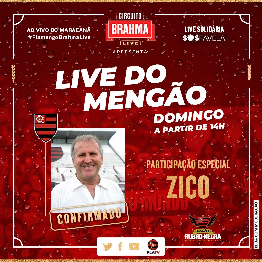 Passando pra avisar, anotem na agenda, domingo essa live vai ser pesadíssima! @Flamengo   @BrahmaCerveja #FlamengoBrahmaLive #AprecieComModeração #ad https://t.co/pwqUnI6z8Q
