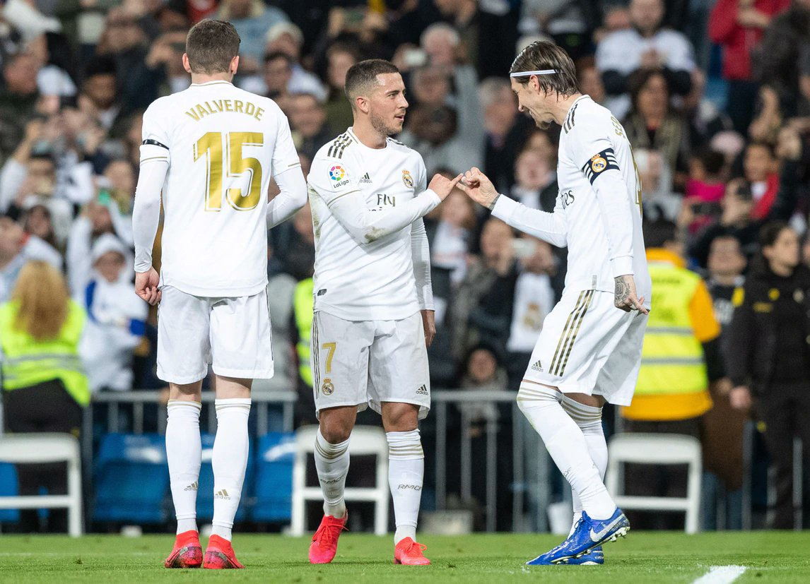 Matchday 24 - 16/02/2020 Real Madrid - Celta Vigo 2-2 A decent match, good midfield performance but 2 defence blackouts made us drop points again after 5 consecutive wins 😕  #RealMadridCelta #HalaMadrid https://t.co/3G7mE0BXFf
