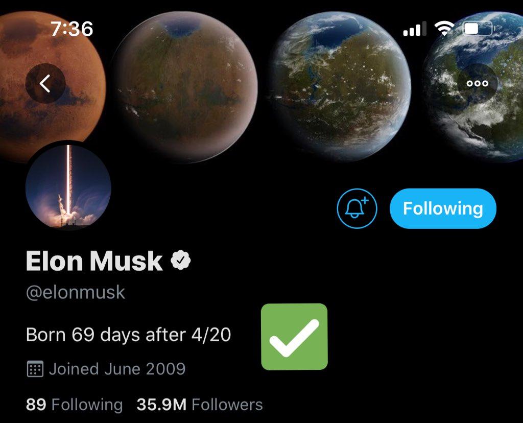 Elon's new bio is Gansta @elonmusk @vicsmurc https://t.co/i2Mo9Po3CY