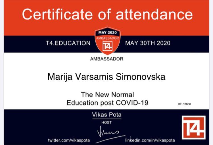 #t4Conf #NewNormal #EduBalkan Thanks @VikasPota for this amazing Conference