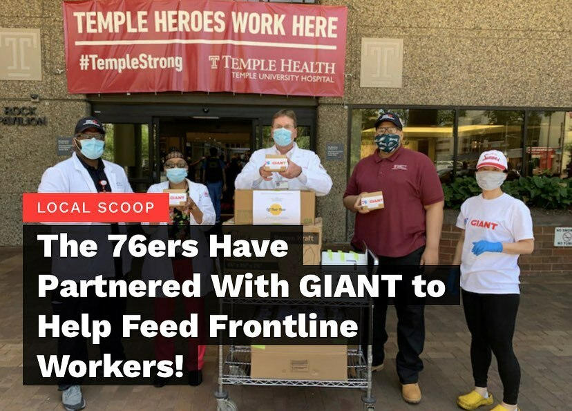 "The #philadelphia76ers announced this week that they have officially partnered with supermarket chain #giant for a collaborative project called "" #feedingthefrontlines ."" This new initiative will also work with local restaurants willing to donate meals t… https://t.co/I5fpAsSY2w https://t.co/onraEFsAMg"