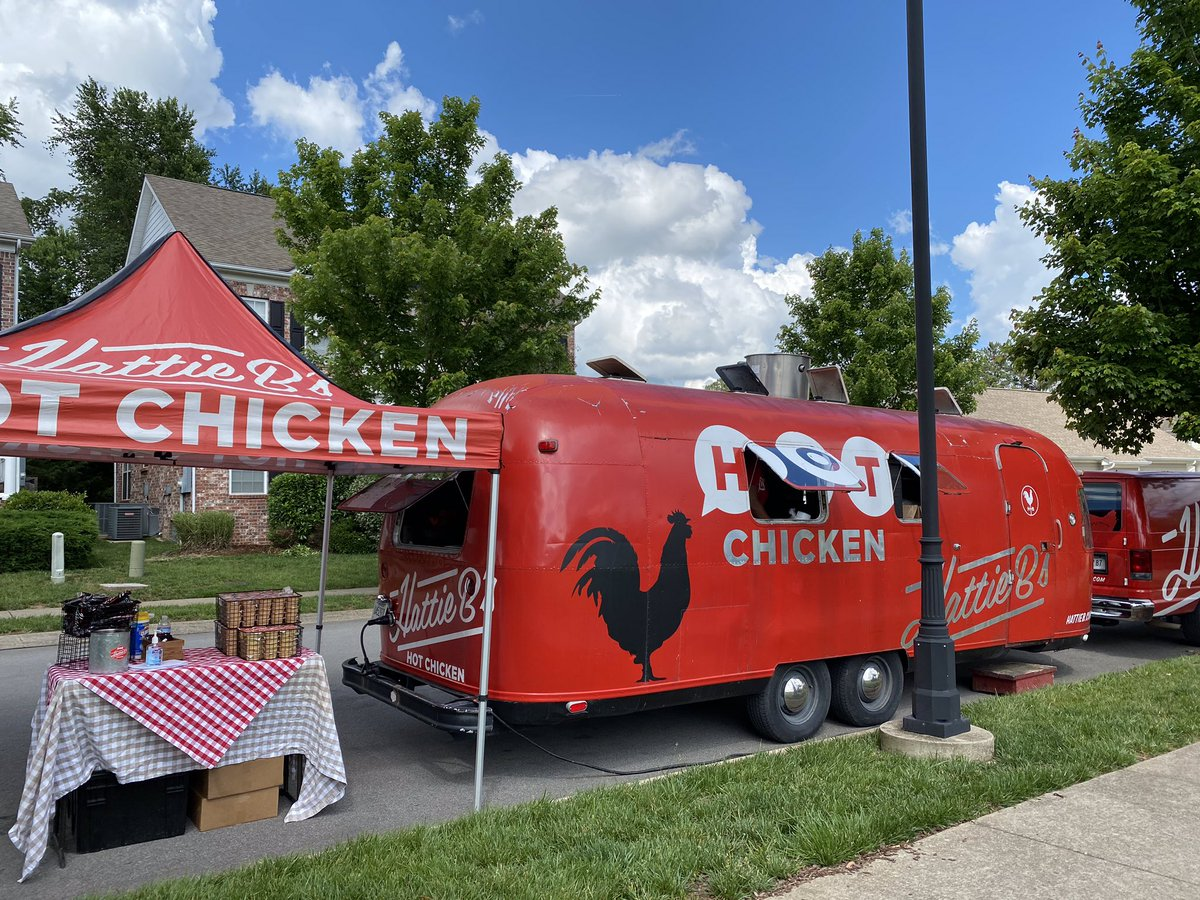 👋 Nashville! We'll bring the HOT chicken to your neighborhood this summer! Just reach out to events@hattieb.com to book our food truck. #HattieBs #HotChicken #BlockParty