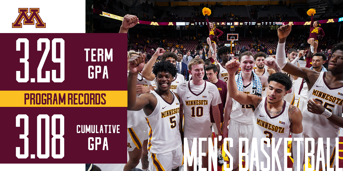 Another semester of #Gophers shattering records in the classroom. 📈 https://t.co/hEkPVV6d3x