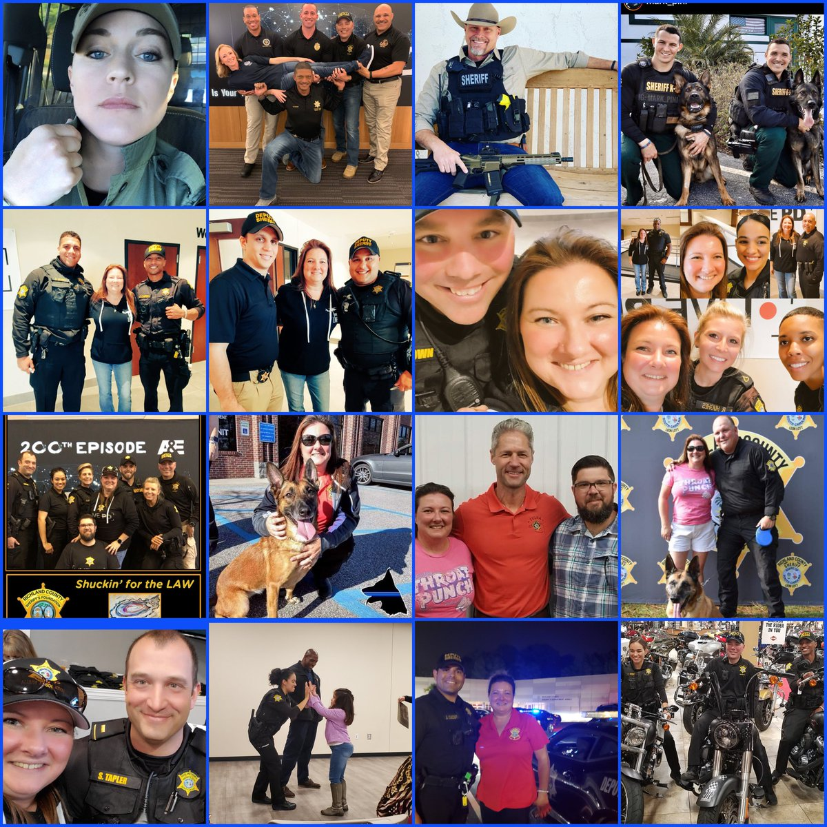 Tonight, the first night #LivePD is not on the air. The top row, along with many others, are some that I havent met. But, as you can see, I have the extreme pleasure of meeting and hanging out with the others. Thanks 2ALL for your hard work, youre already missed!💙 #BackTheBlue