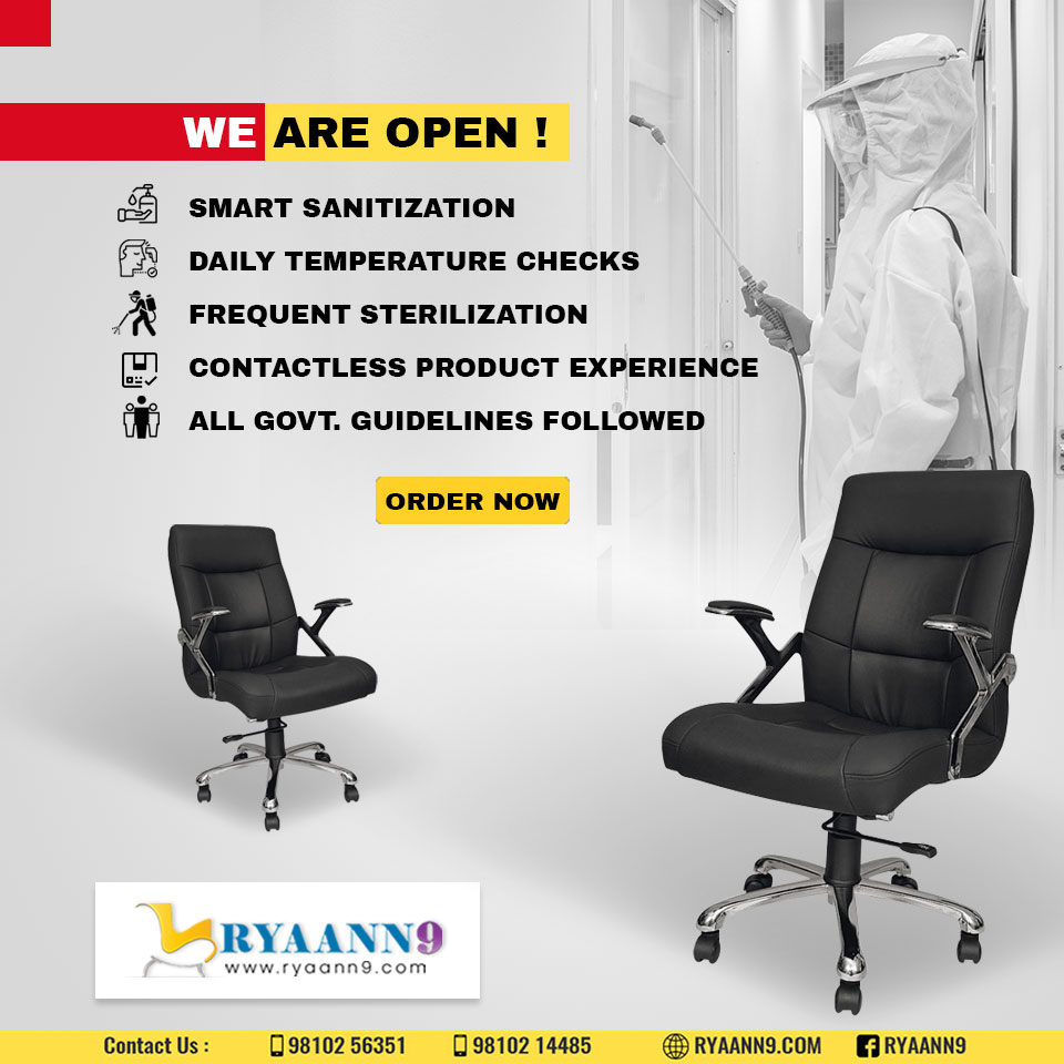 we are back! I am so happy that we're back in business. we are talking all the safety measures because health and safety of our customers and employees are important for us. #RYAANN9 #MAHLAXMI #OFFICECHAIRS  visit us: http://www.ryaann9.com  CALL US: 9810256351, 9810214485pic.twitter.com/9v4Nd9D8yZ