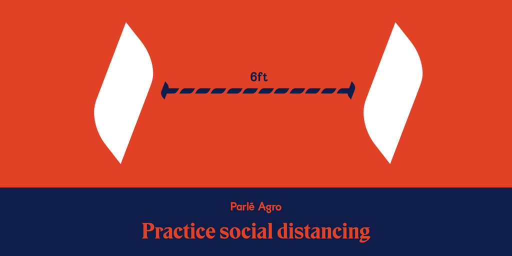 Let us not forget the need to practice social distancing. #StaySafe  #SocialDistancing  #ParleAgro https://t.co/gaPXYu4ohH