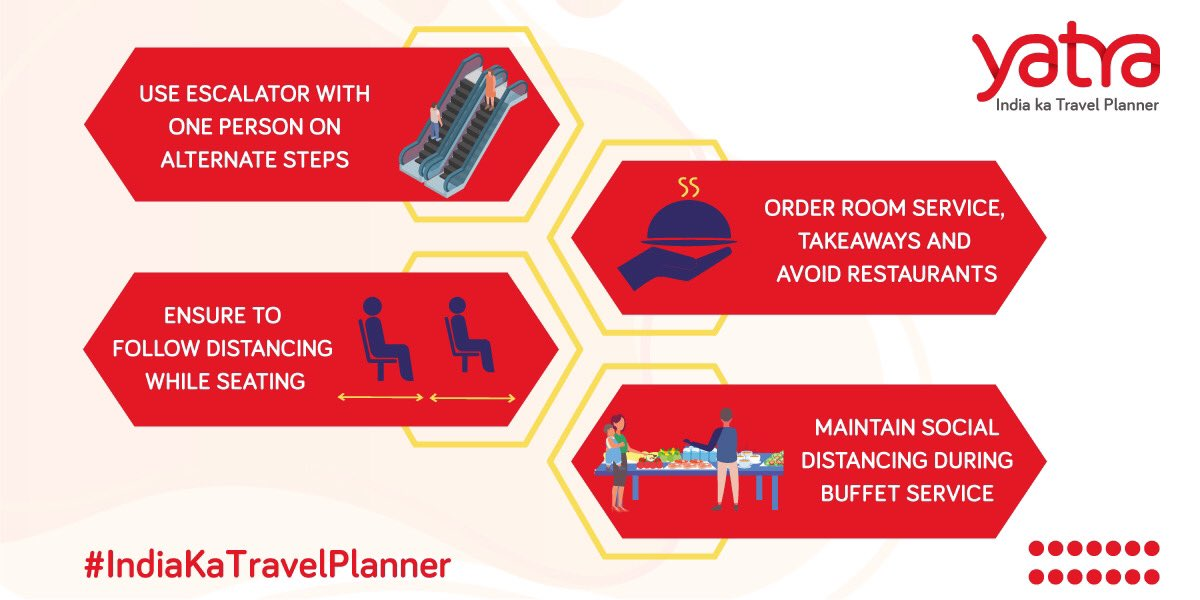 Planning to get a bite to eat from your favourite restaurant? Or Travelling and can't avoid eating out?   Follow these simple tips to ensure a healthy and a safe meal.  #IndiaKaTravelPlanner https://t.co/HbjRu6bKzW