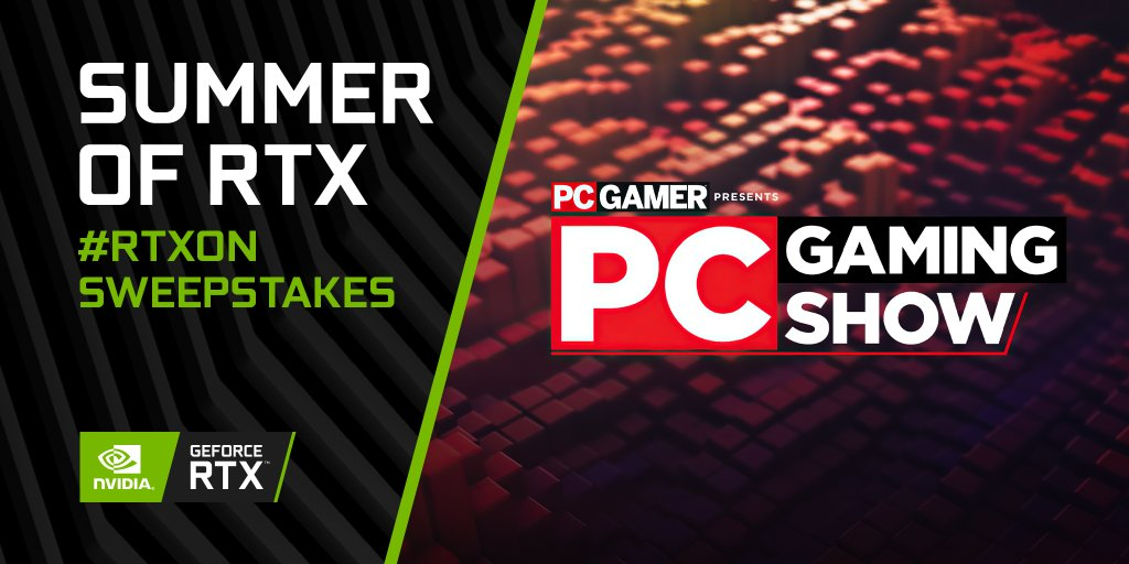 Join us today at 7PM BST as we tune into #PCGamingShow   Drop a comment 👇 and tell us what you're most excited to see 👀   Don't forget to Like + RT + tag 3 friends for an entry into our #RTXOn sweepstakes! https://t.co/rIkJXqSb9q