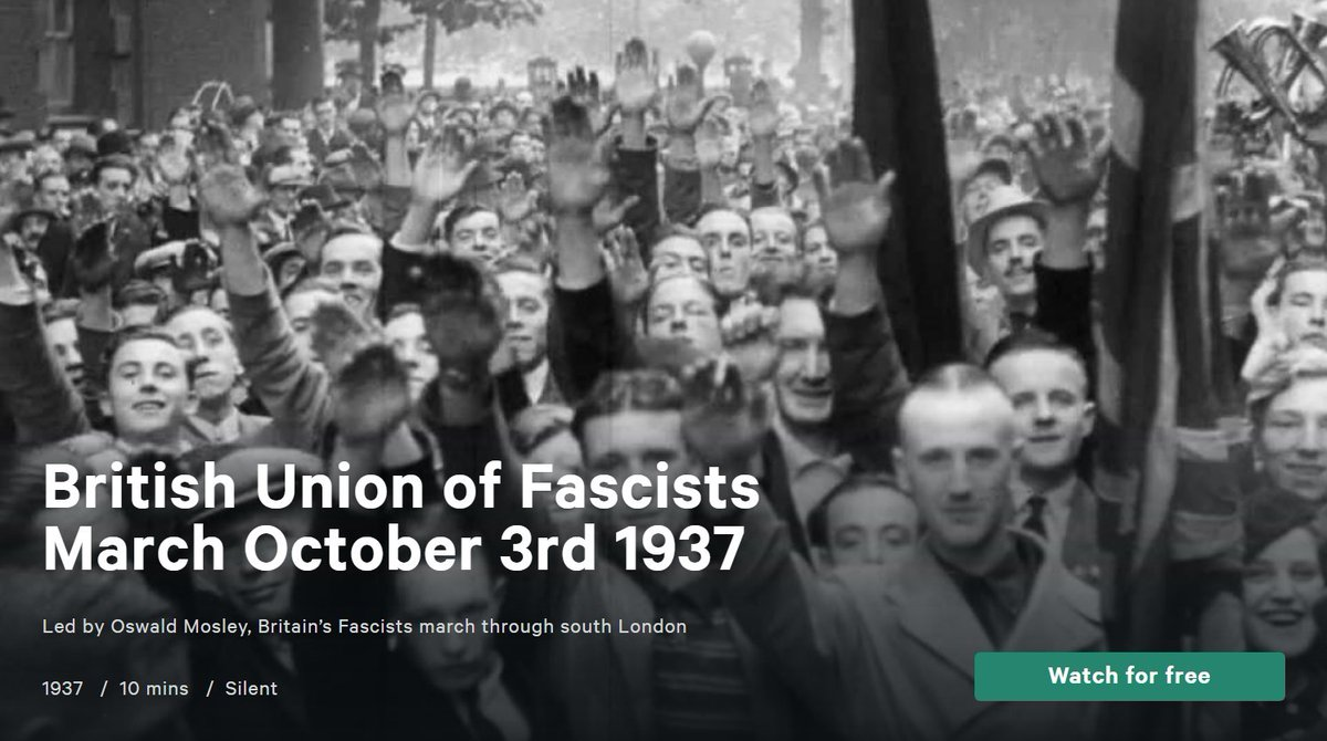 Archival Footage – British Union of Fascists March October 3rd 1937