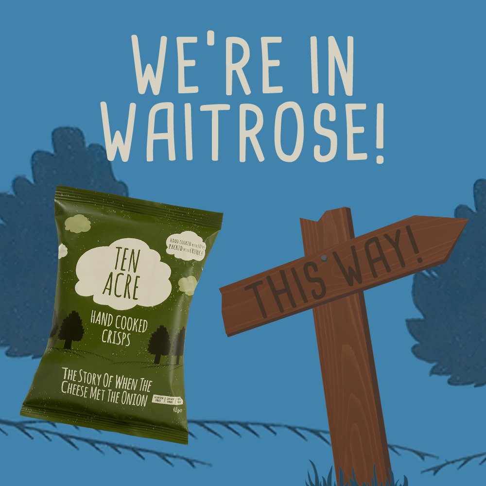 Have you spotted us at the Free From aisle in your local Waitrose yet? Our 135g bags are available in Vegan Cheese & Onion, Salt & Vinegar and Hickory BBQ!