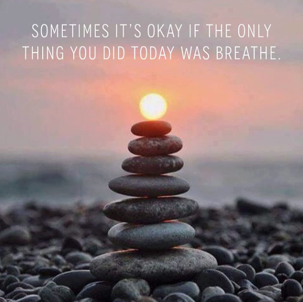 Sometimes we need to take a breath and refocus