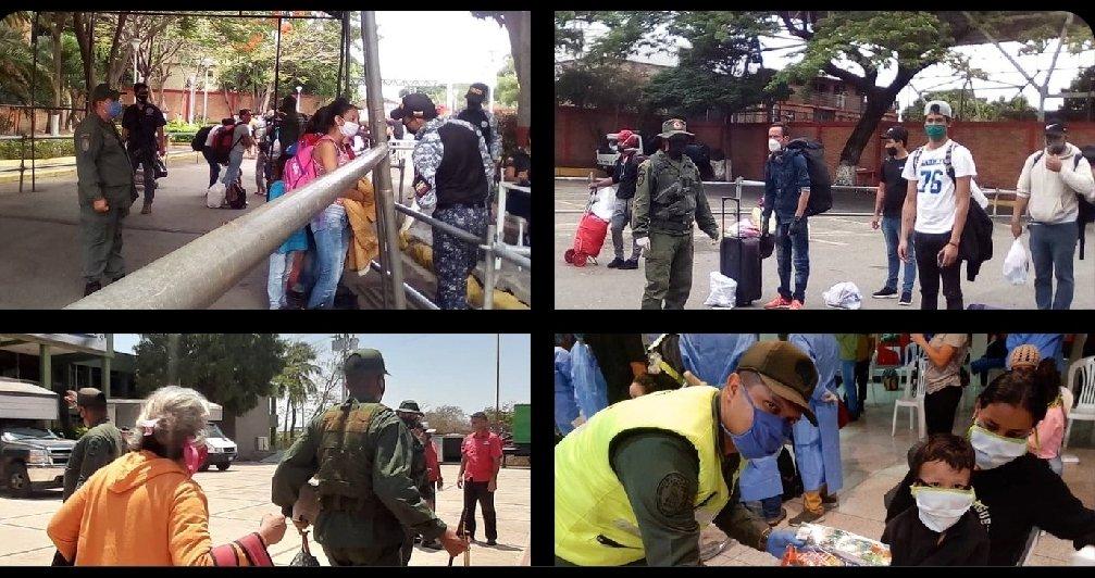 #13May Con atención integral, el #CEOFANB a través de la #REDI_Andes-@Zodi_Tachira, #REDI_Occidental-@ZODI_Zulia, #REDI_Llanos-@ZODI_Apure y #REDI_Guayana-@ZODIBOLIVAR62, reciben con amor y los brazos abiertos a connacionales que retornan a la Patria por la frontera de Venezuela. https://t.co/WHfVb1nkXb