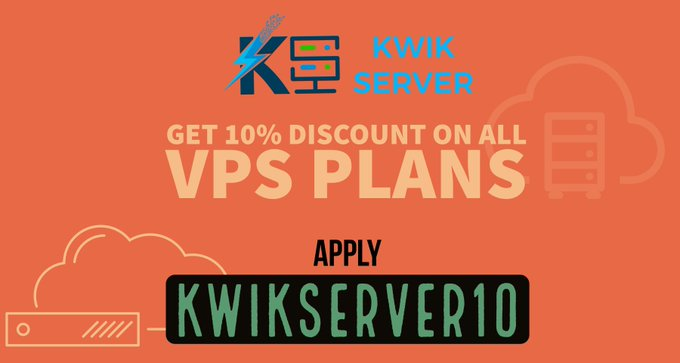 Avail instant 10% discount on VPS and other services.