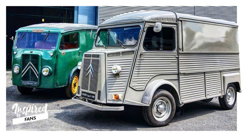 Calling all Citroënists! In this photo, there's a Citroën Type H and a Citroën TUB...  What colour is Citroën Type H? Let us know below! Thanks Cfargi for this photo 🤩 https://t.co/kwtCXVBFMj