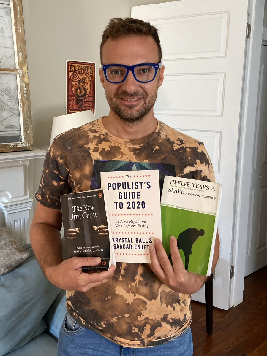 """Since I wasn't able to attend the protests (due to asthma/ high risk), I've been re-reading """"12 years"""" as well as two other amazing books!!! (As a gig fan of """"Rising"""" I can't wait to read this one).  #risingstories #thehill #populistsguideto2020 #krystalball #saagarenjeti"""