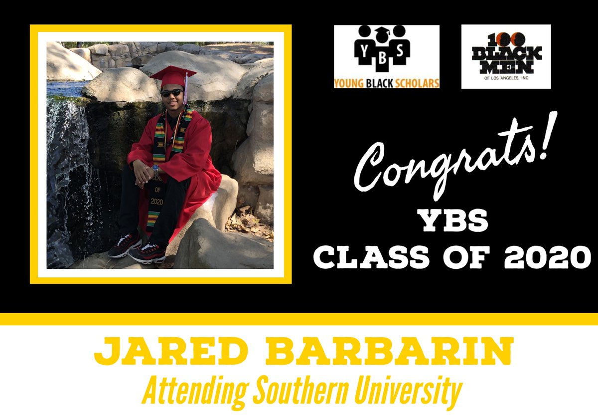 Meet Young Black Scholars' Class of 2020 Senior Jared Barbarin.  Jared will be attending Southern University in the Fall.  Congratulations Jared!  @100bmoa @100BlackMenLA #ybs #100blackmen #youngblackscholars #collegebound