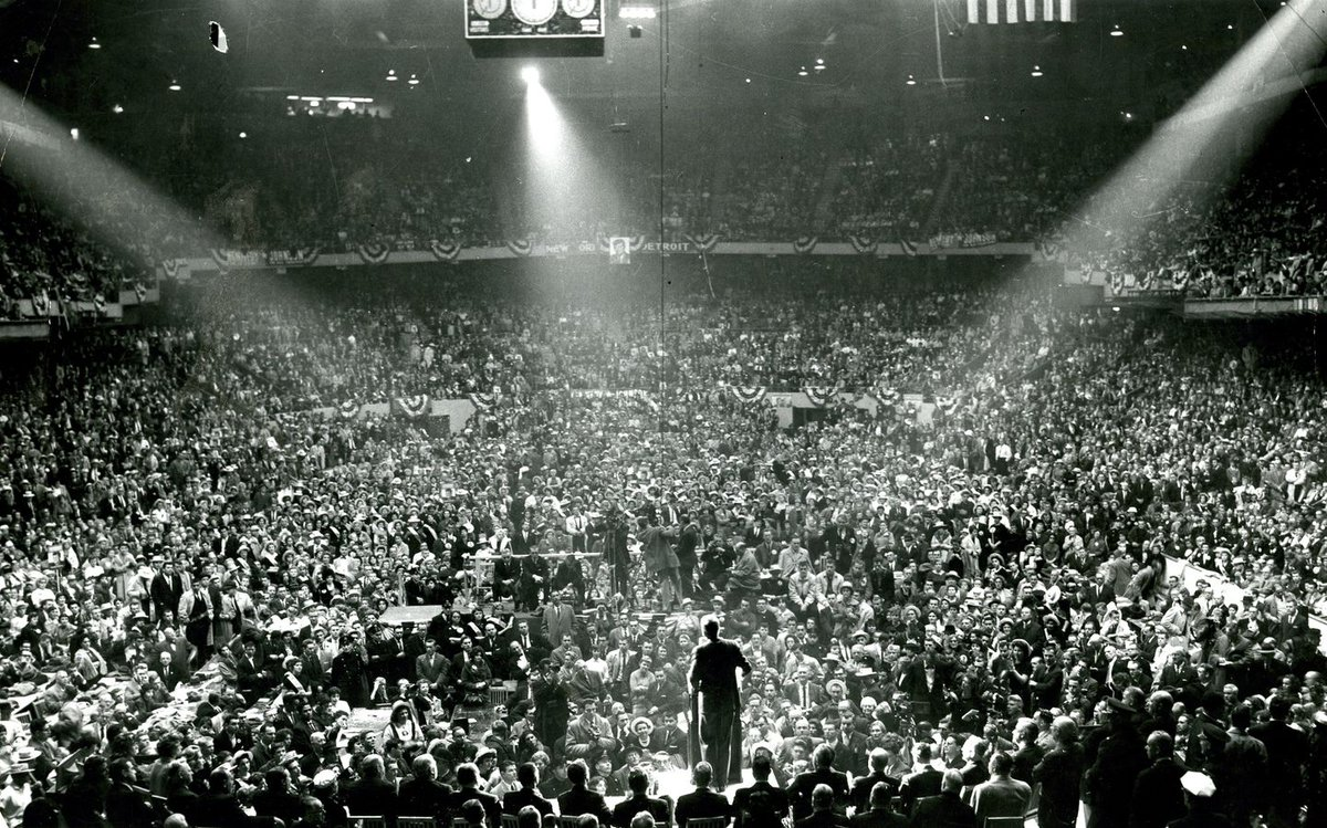 JFK campaigning in Boston Garden, November 1960: