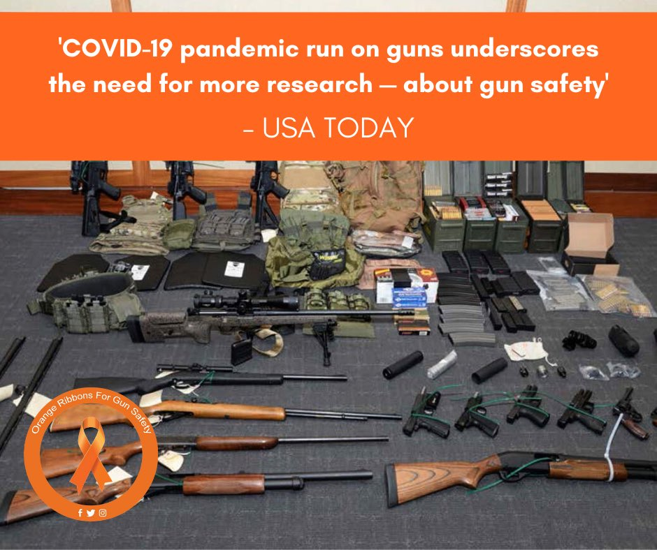 We need scientific rigor to both beat the coronavirus and cope with the record gun sales it produced. The virus will fade, but the guns are here to stay. Read more at https://t.co/LmZvzfuHQz.   #OrangeRibbonsForGunSafety https://t.co/yhBRCWxWlZ