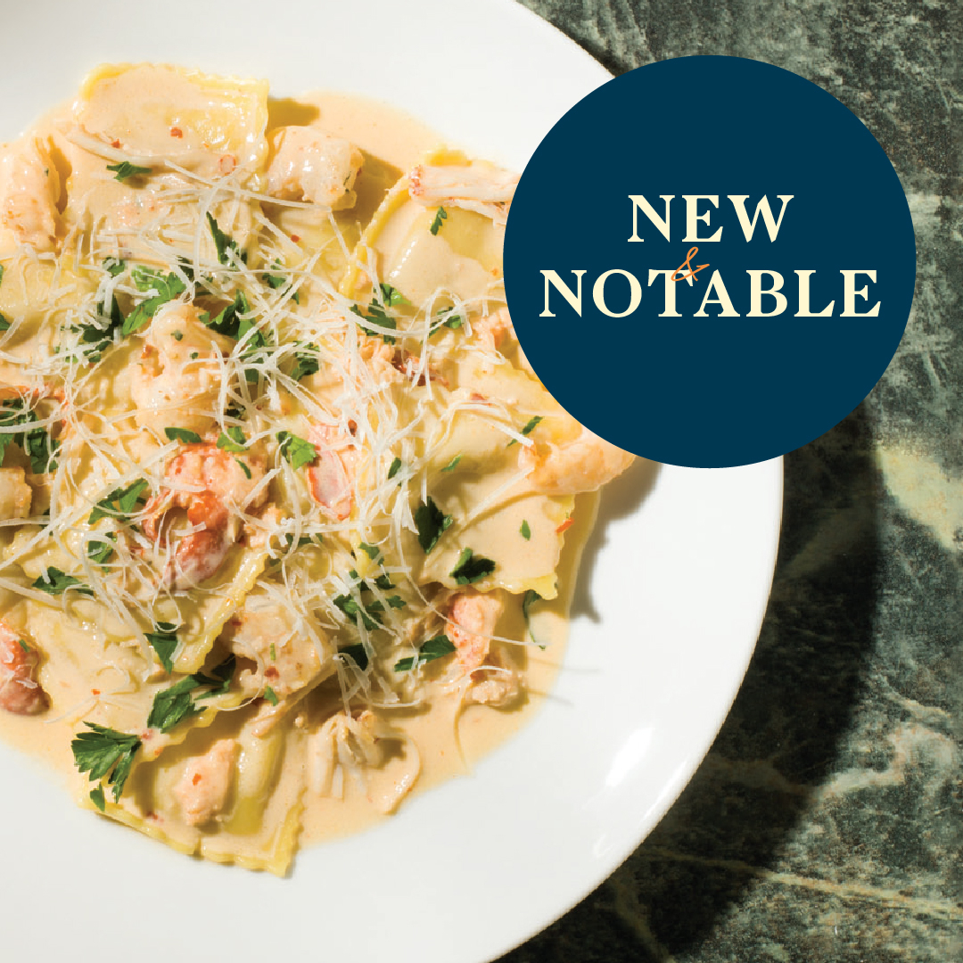 PASTA NIGHT — This dreamy ravioli is here to satisfy all your comfort food cravings 😘 Decadent celery root ravioli, sweet lobster, + tender prawns, all tossed in a rich lobster cream sauce and topped with freshly grated Grana Padano.   Book your table at https://t.co/x0j2rozdbs. https://t.co/ODBFIcAuNR