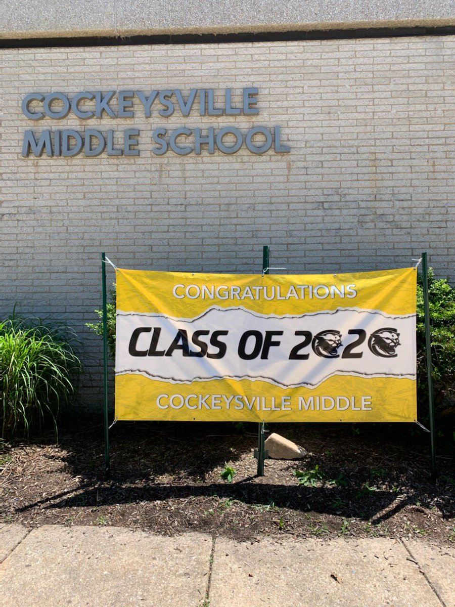 Thank you to our amazing PTA for this awesome sign to commemorate our class of 2020!! #CMSStrong