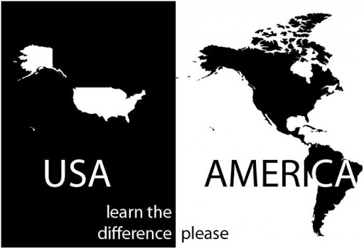 For reference, we don't refer to the United States as America because it legitimizes the language of the racist manifest destiny.   🇺🇸U.S.: United States or USA. 🇺🇸USian: Citizen of the U.S. 🌎America: Two continents and 35 countries. 🌎American: Residents of any part of America. https://t.co/QRddsu8ii6