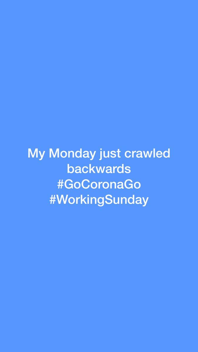 Everyone else: Working from home Me: Sunday working #GoCoronaGo #WorkingSunday pic.twitter.com/g5W00qaobi