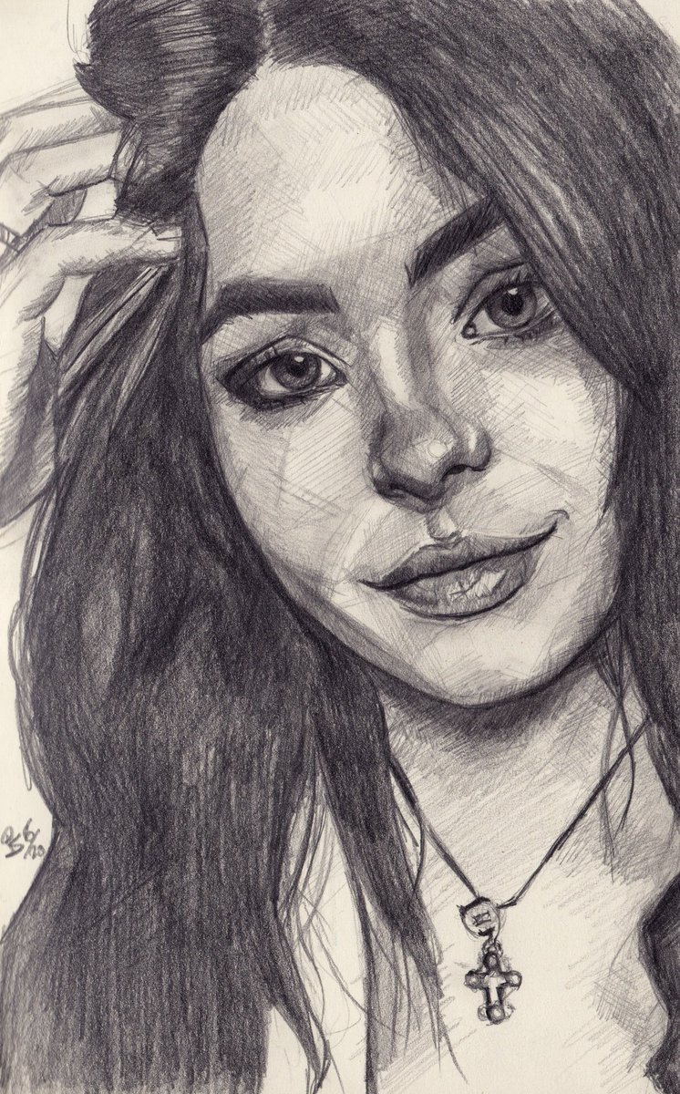 """Anna"", #graphite  #pencil #portrait on #sketchbook #moleskine  #art #handdrawn #handdrawnart #teamdli  #pencildrawing #hairbow #moleskineart #graphitedrawing #artist #iloveart #drawsomethingshowcase #united_artists_art_pic.twitter.com/7FBN9y01Sd"