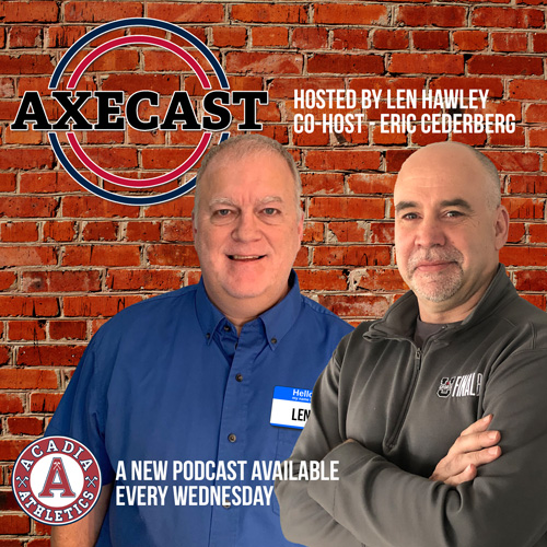 The #AxeCast can be found on Spotify & Apple Podcasts. . 🎧 This week featured Steve Baur, former 🏀 #Axemen head coach who is an assistant coach @CanBball SWNT. . This Wed features former @axewomenrugby #Axewoman Andrea Burk discussing her time after @AcadiaU with @RugbyCanada https://t.co/FBSo6atYZF