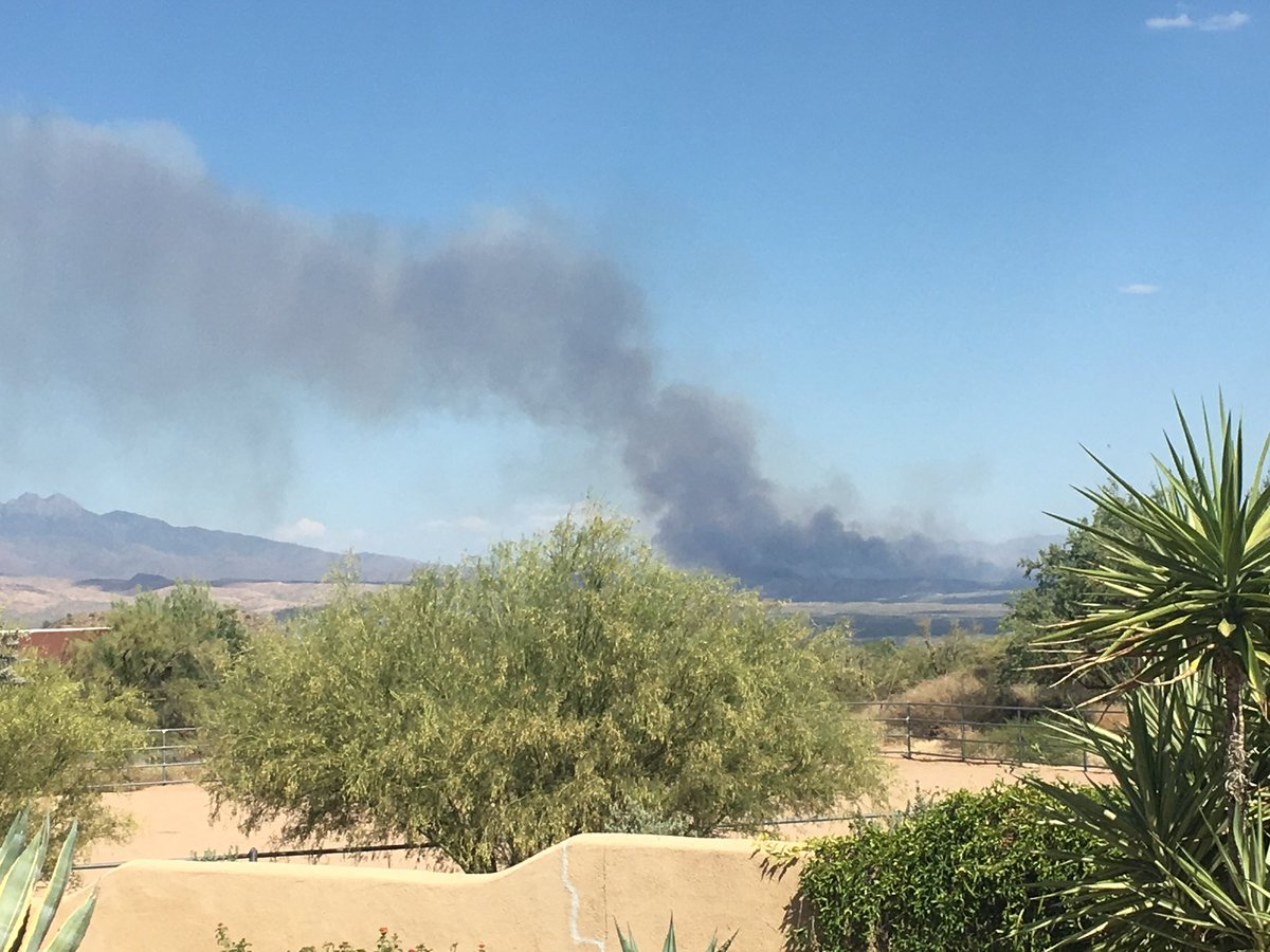 #BushFire view from Rio Verde. Fire is on @TontoForest. 📷courtesy of Bob Elmore #AZForestry #AZFire