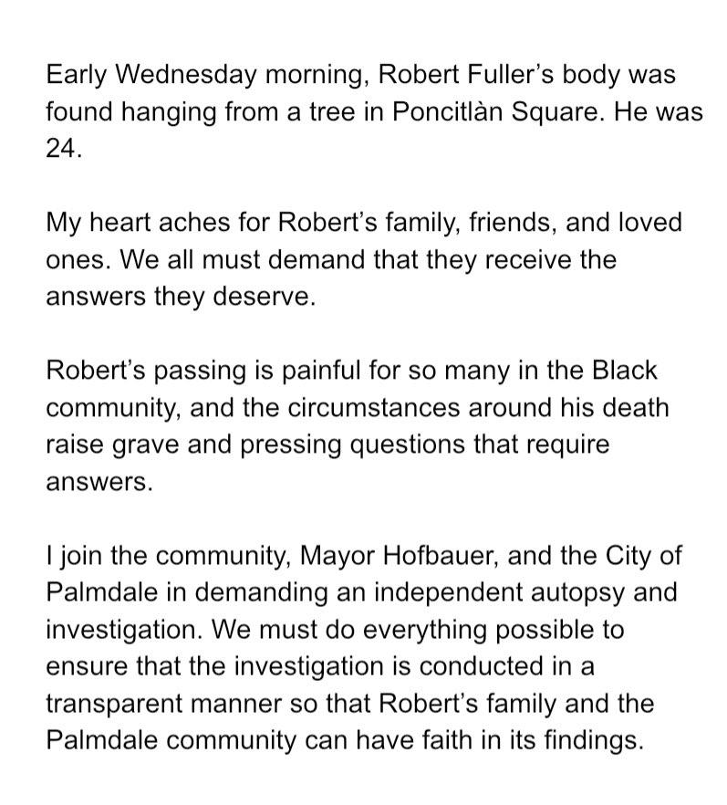 Robert Fuller's family deserves answers.