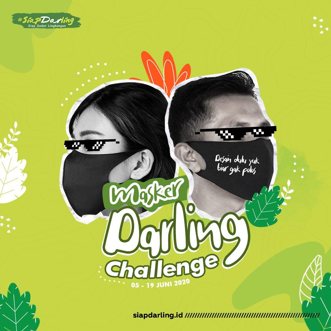 Gaes buat kalian yang hobi ngedesain gambar, ada Challenge menarik nih untuk kamu ikutin.  Tunjukin kreativitasmu dan menangin deh hadiahnya gaes!  #SiapDarling #PeduliLingkungan #CintaLingkungan #MaskerChallenge #MaskerDarling #PakaiMasker #Mask4Allpic.twitter.com/umxdGXnIoN