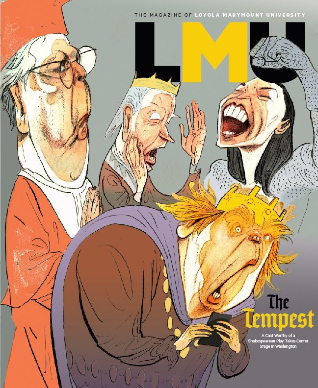 The SPD 55 Members Choice Best Cover was announced today. The winter 2020 LMU Magazine was one of the finalists. Hats off to The Atlantic! Thanks to DJ Stout, Michelle Maudet at good ol Pentagram. Our Shakespearean moment. @lmumagazine