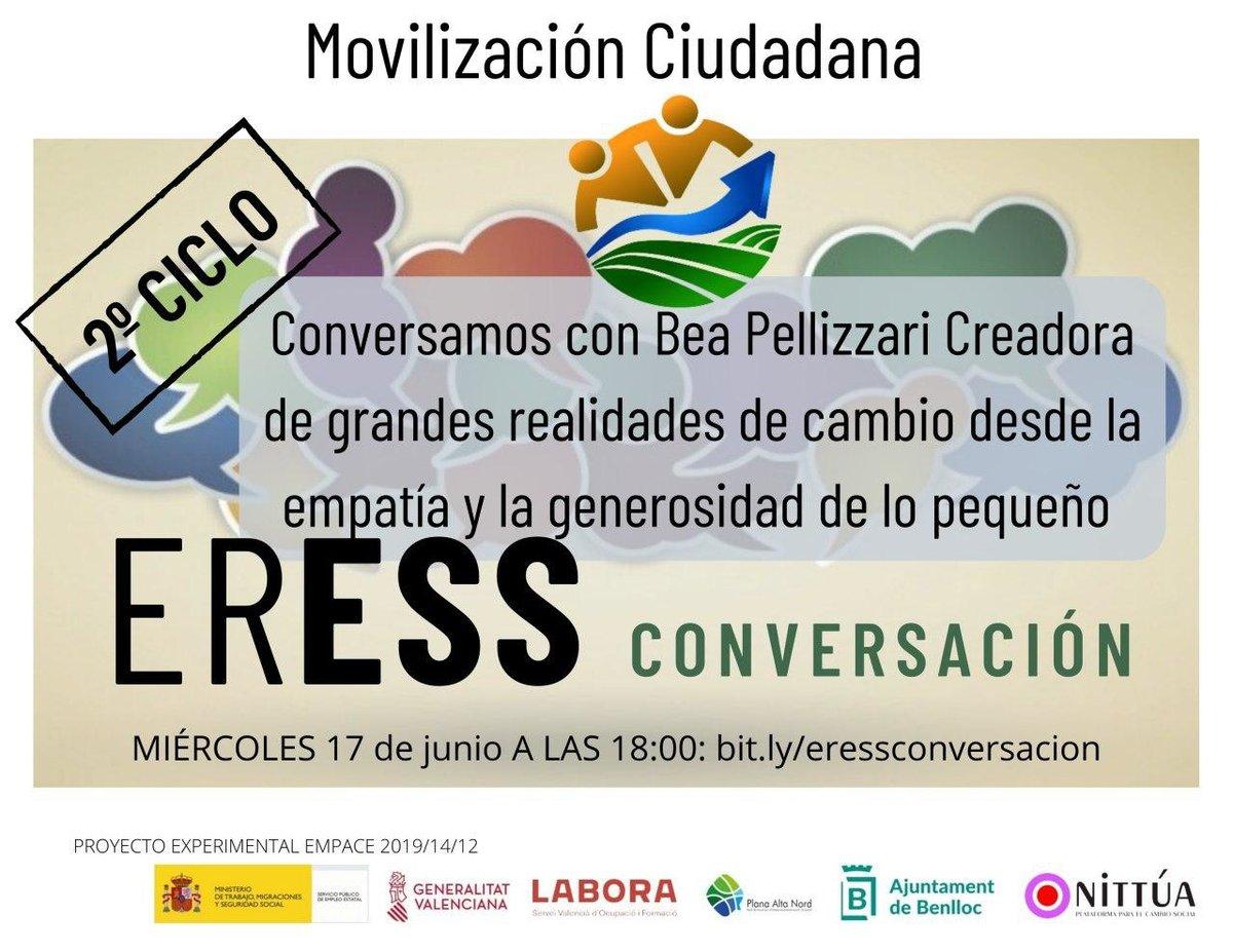 El próximo miércoles #ERESSCONVERSACION  cierra ciclo con Bea Pellizzari hablando de Movilización Ciudadana. Una conversación que disfrutar y compartir.  Te esperamos en https://t.co/ckU3lLwOLe miércoles 17 a las 18:00 https://t.co/VGEg9c31C9