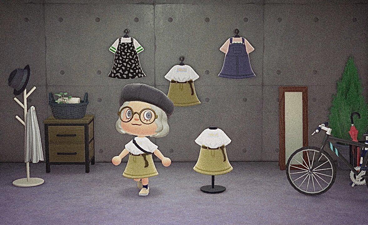 やっぱりTシャツインスタイルが好きなので…スカートにTシャツイン…!作ってみました🌻🌻🌻プラス2着は完全に趣味です…🙈♡もしよければ着てみて下さい🐳💭#どうぶつの森 #あつまれどうぶつの森 #acnh #animalcrossing #マイデザイン #マイデザイン配布 #マイデザインpro  #あつ森