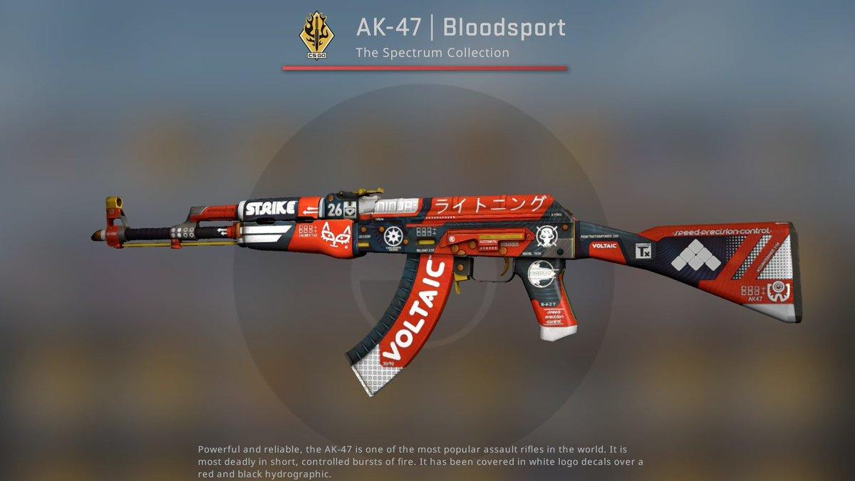 "DaddySkins on Twitter: ""Factory New AK-47 Bloodsport ✓ Retweet & Follow us… """