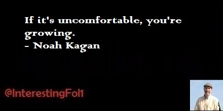 If it's uncomfortable, you're growing. - Noah Kagan https://t.co/4zzwALYaWw
