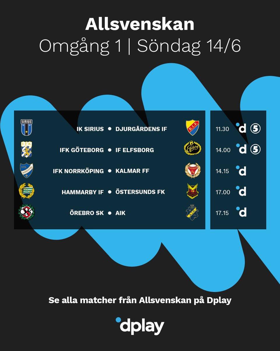 Dplay Sport On Twitter Premiar Idag Drar Allsvenskan Antligen Igang Och Har Ser Ni Dagens Schema Pa Kanal 5 Och Dplay