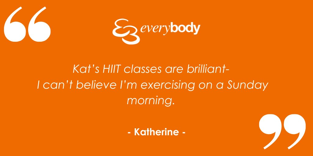 Who else can't believe they are exercising on a Sunday morning? Once you find a class you enjoy, it just becomes part of your routine. Who's with us, 10am today, live in our Everybody Member Zone Facebook Group, for Everybody HIIT with Kat. Find out more: https://t.co/m7QjWDeUd5 https://t.co/aZ7yxDyXES