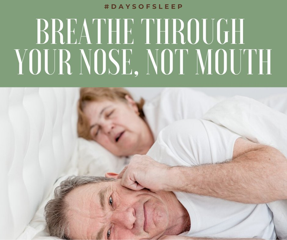 Day 80 - #DaysOfSleep  BREATHE THROUGH YOUR NOSE, NOT MOUTH Breathing through the nose results in dry mouth, snoring, fatigue, & poor sleep, diminishing quality of life https://t.co/nr7K1FULfn #SleepRenewal #SleepClinic #sleep #nosebreathers  #LockdownSA https://t.co/HGuPd8XM8p